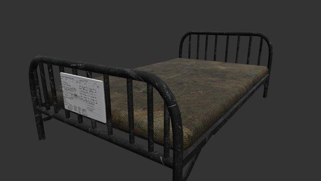 Mental Asylum - Patient Bed 3D Model