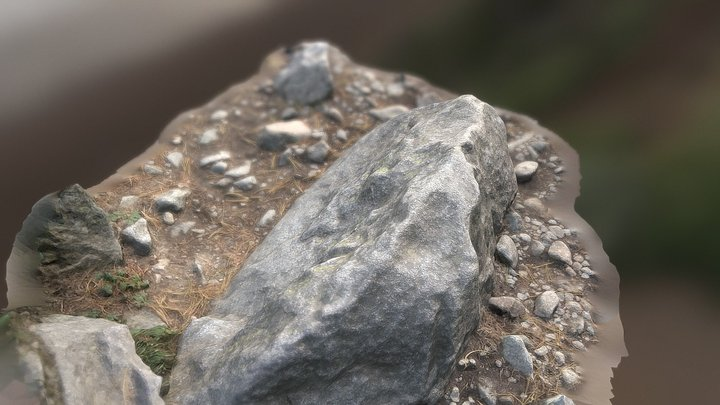 Sharp stone 3D Model