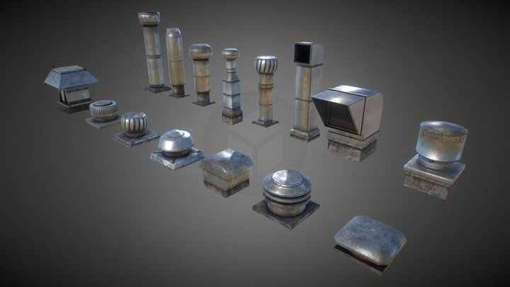 Roof Elements Set 1 3D Model