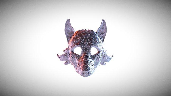 Wolf Mask, stl wolf mask, 3d wolf mask, print 3d 3D Model