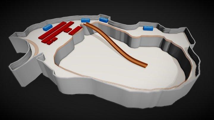 Bergwerk Berchtesgarden 3D Model