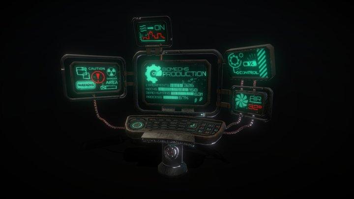 Sci-fi Factory Computer - 3D Model 3D Model