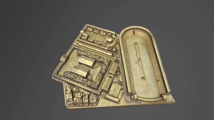 Plaque 28 - Maquette de Rome 3D Model