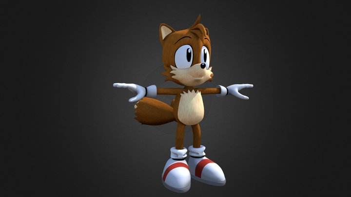 """SatAM/AoSTH Miles """"Tails"""" Prower 3D Model"""