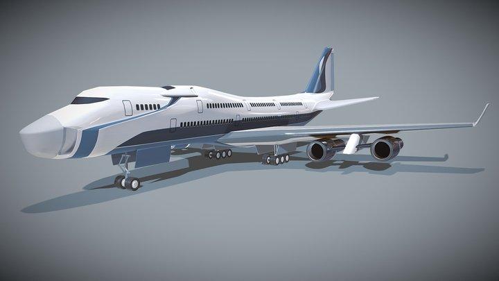 Futuristic commercial jet concept 3D Model