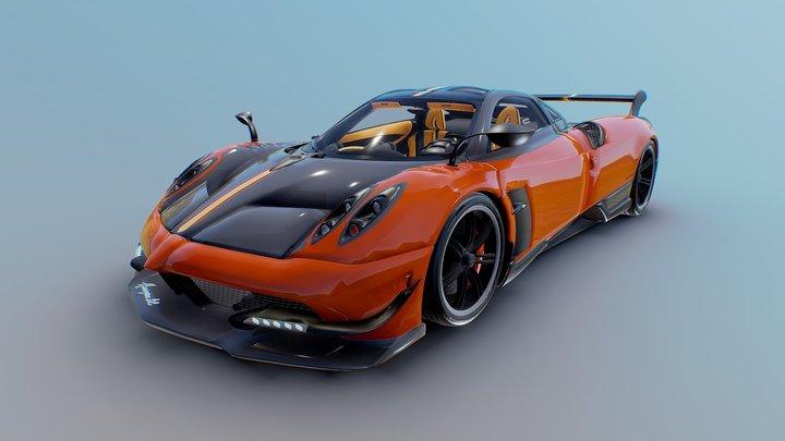 Pagani Huayra-BC | Metallic Beryllium Orange | 3D Model