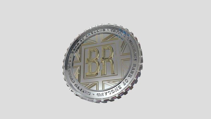 'Britcoin' Concept Coin 3D Model