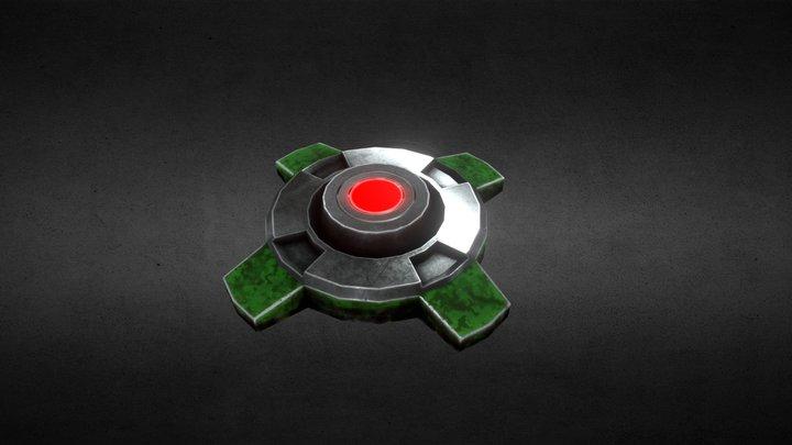 Sci-Fi Landmine 3D Model