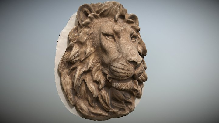 Lion Head Photogrammetry scan 3D Model