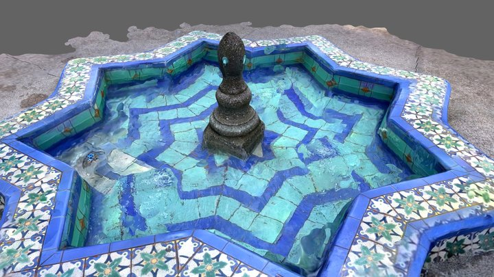 Alcazar Garden Fountain 3D Model