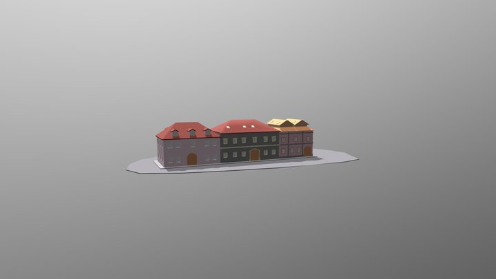 Example of slovak building types 3D Model