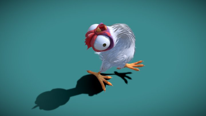 Stylised Chicken Character 3D Model