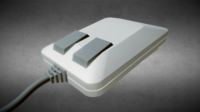Commodore 1351 Mouse 3D Model