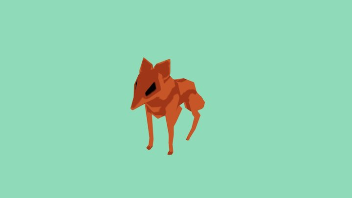 Test texturing fox 3D Model