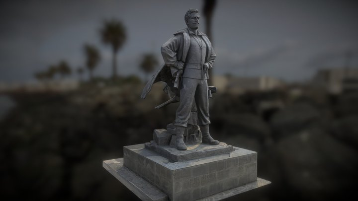 Soldier Statue, Cyprus 3D Model