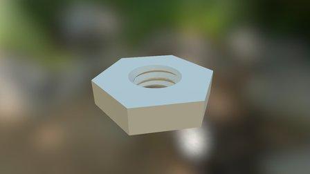 Drip Emitter V1 (Nut)-3Dponics Emitters&Plugs 3D Model