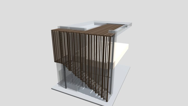 Doumani Exterior Stair and Louvers 3D Model