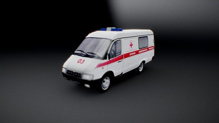 ГАЗ-3221 Скорая помощь / GAZ-3221 Ambulance R.2 3D Model