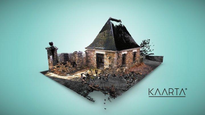 Frick Park Stone Guardhouse - Contour 3D Model