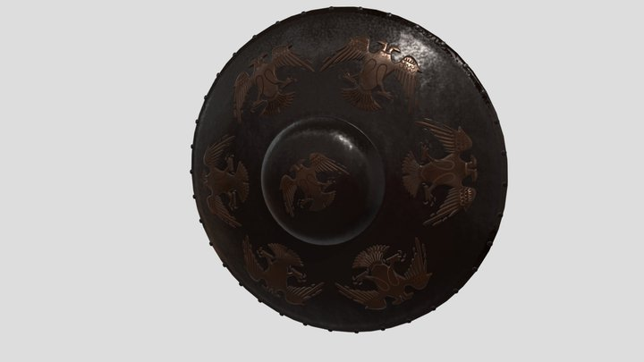 Seljuk-shield-eagle 3D Model