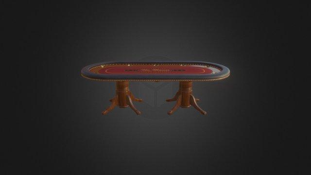 Grand Poker Table 3D Model