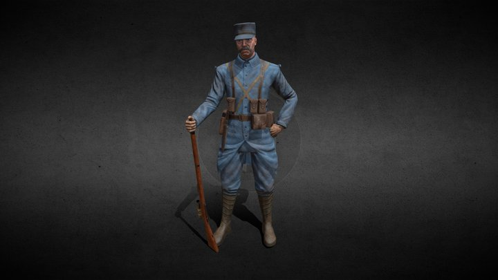 French soldier sniper 3D Model