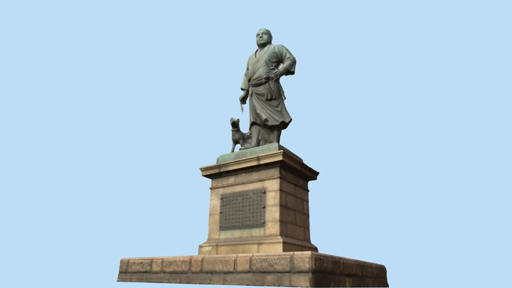 Statue of Saigo Takamori @Ueno 3D Model