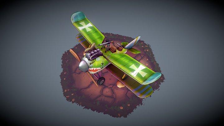Rolland C.IIa Stylized - Flying Circus 3D Model