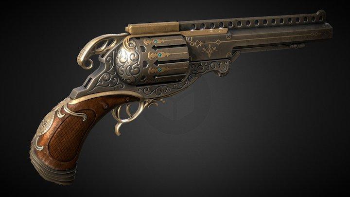 Steampunk Handgun 3D Model