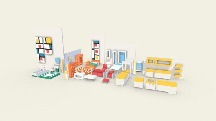 Home items 3D Model