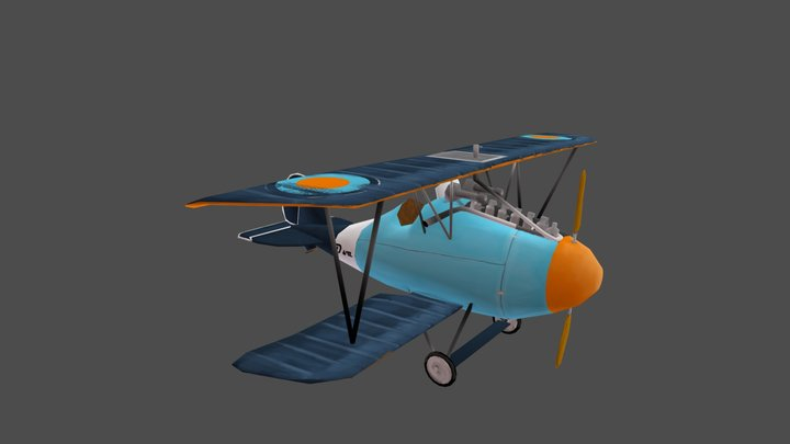 Stylized Albatros Jasta 5 3D Model