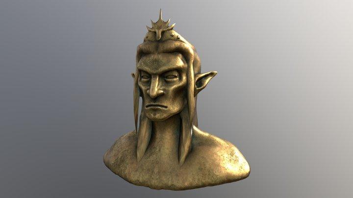 Elf King Sculpture 3D Model