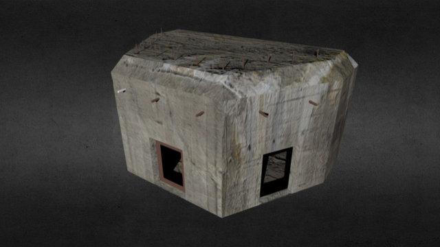 'Stekelvarken S3' Kazemat (Dutch WWII bunker) 3D Model
