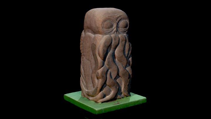 Cthulhu stone sculpture 3D Model