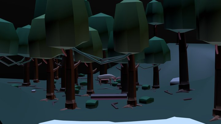 Night in the forest 3D Model