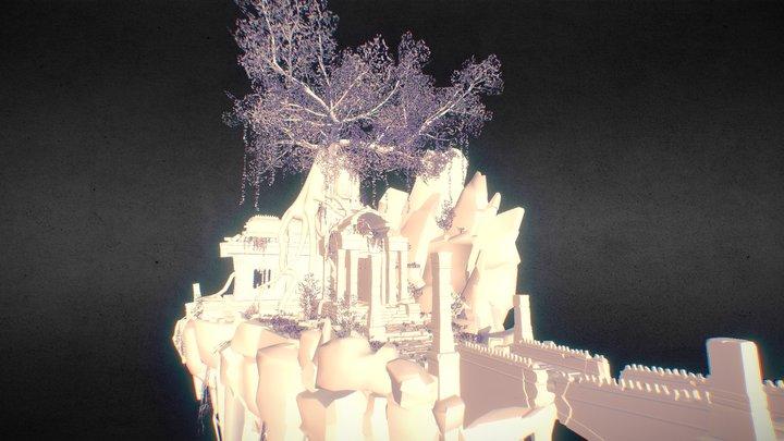 Floating Island (Naughty Dog Art Test) 3D Model