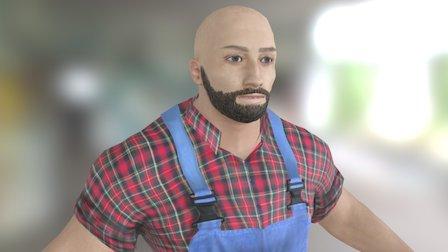 LamberMan game character 3D Model