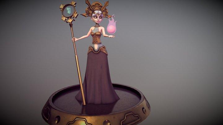 Sorceress - Ancient Civilization 3D Model