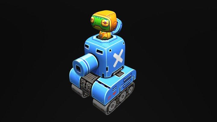 Tin Tank Toad 3D Model