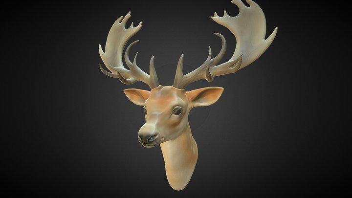 Deer Bust 3D Model