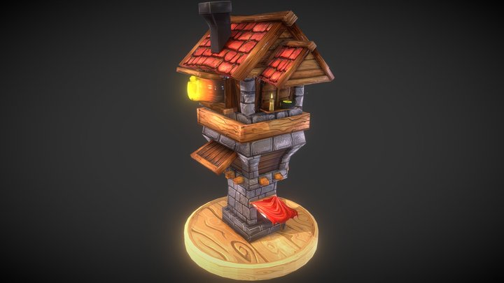 Cannon Tower 3D Model