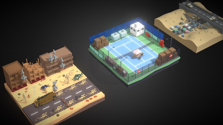 Polygon Zombie Environment Pack 3D Model