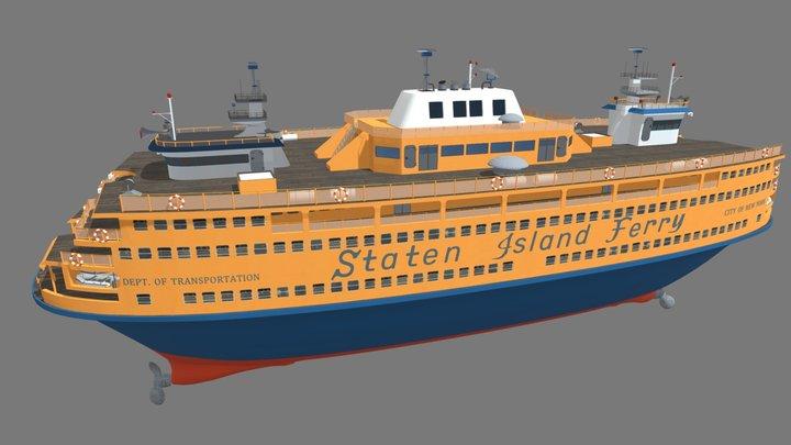 Staten Island Ferry Boat 3D Model