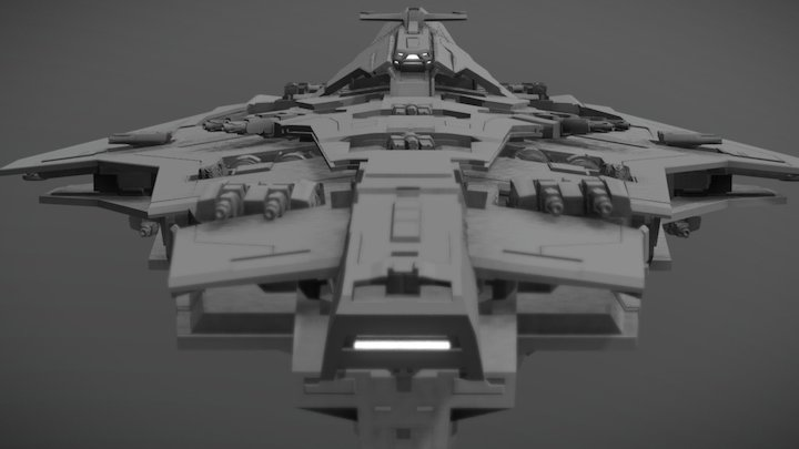 DREADNOUGHT - Medium Destroyer - Athos  - Tier V 3D Model