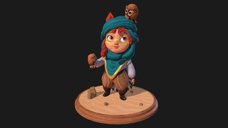 Lil'Owl 3D Model