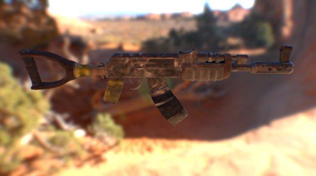 Ak47_scar 3D Model