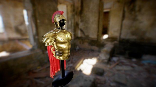 Ancient Roman Soldier Armor 3D Model