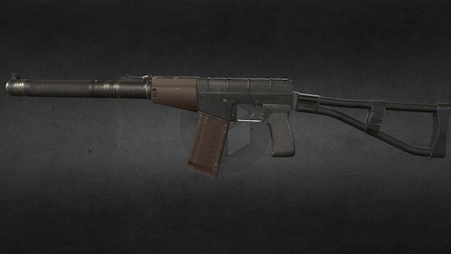 AS VAL rifle 3D Model