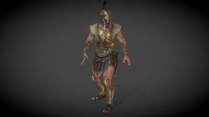 Spartan Warrior A pose 3D Model