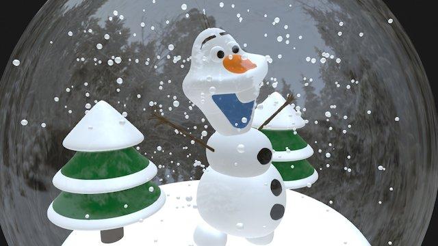 Olaf Snow globe 3D Model